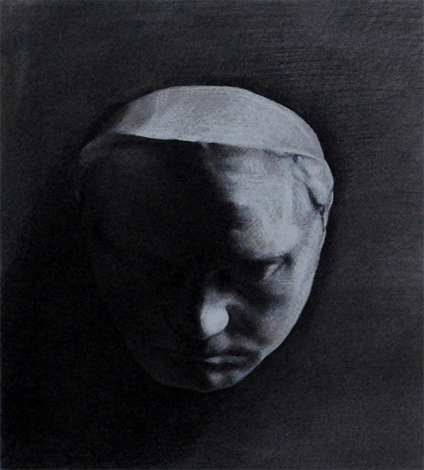 Andrea J Smith's drawing of the Beethoven death mask