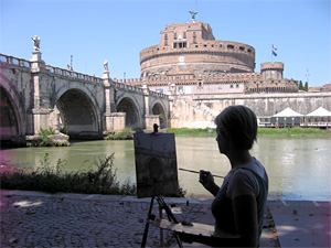 Painting along the Tiber